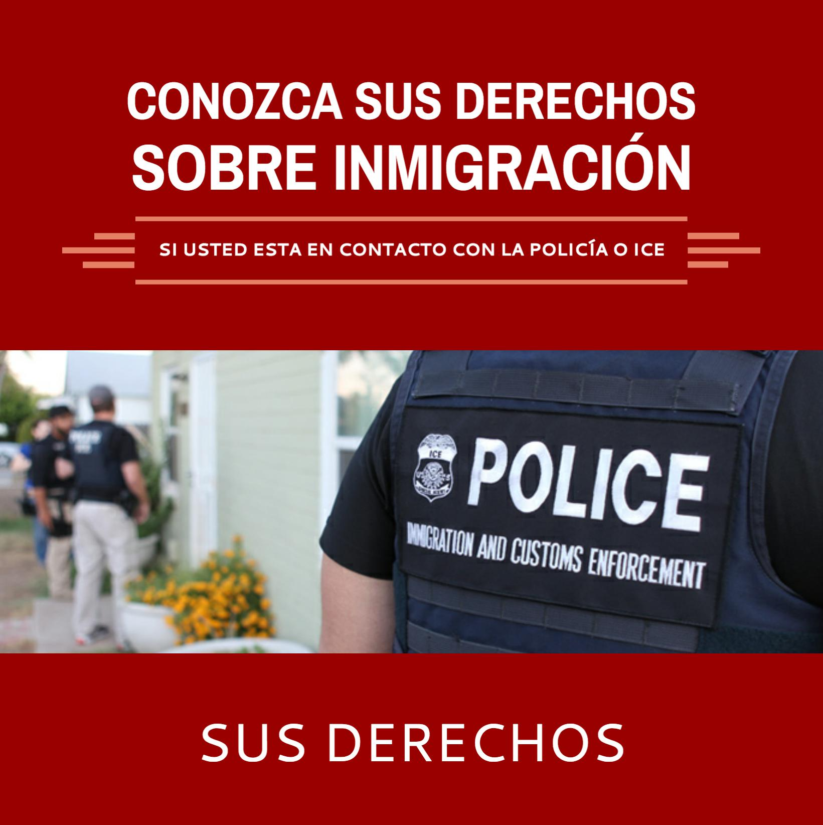 Know Your Rights Immigration Infographic - Spanish