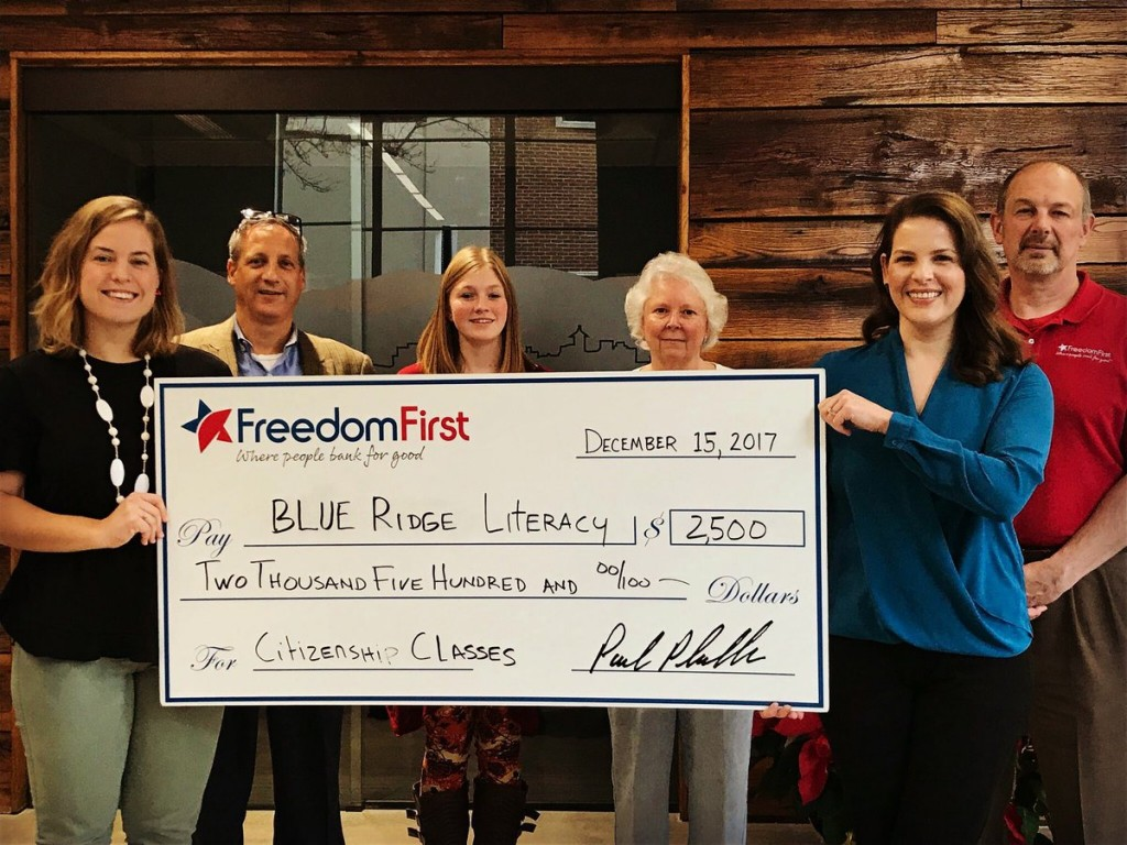 Freedom First and Blue Ridge Literacy